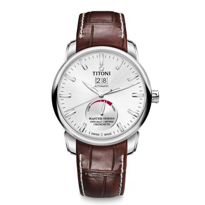 TITONI瑞士梅花錶 大師系列(94688 S-ST-578)-白/41mm