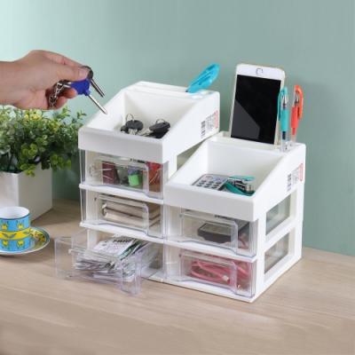 創意達人日系簡約便利組桌上型抽屜收納盒-2入組