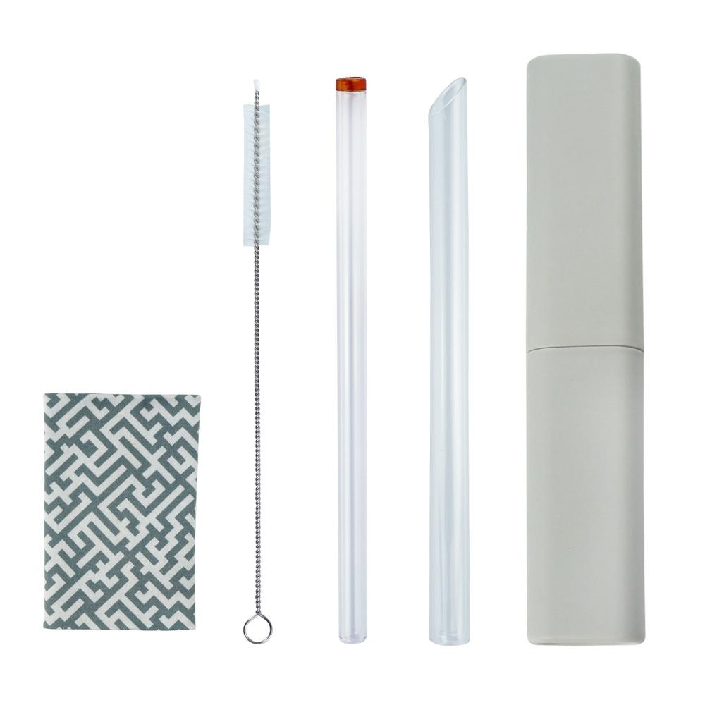 Caldo卡朵生活 小煙囪玻璃吸管5件組(附盒+布)(快) product image 1