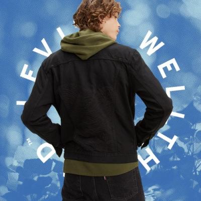 Levis Wellthread環境友善系列 男款牛仔外套 創新棉化寒麻纖維 精工海浪刺繡