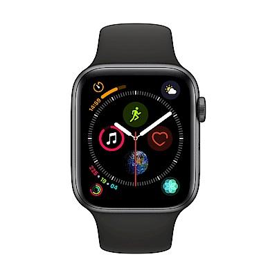 [無卡分期-12期] Apple Watch S4 +網路 44mm 灰色鋁錶殼搭黑色錶帶