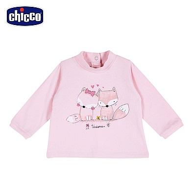 chicco-To Be Baby-高領長袖上衣-粉(18個月-4歲)