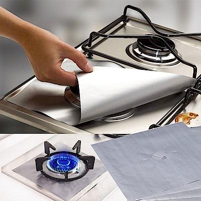 EZlife瓦斯爐防油污保護墊4入組贈吸水防霉靜電貼
