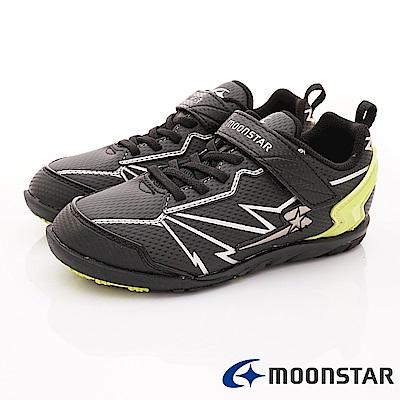 日本月星頂級競速童鞋 究極強2E系列 EI636黑(中大童段)