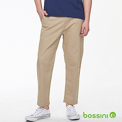 bossini男裝-及踝9分褲01茶色