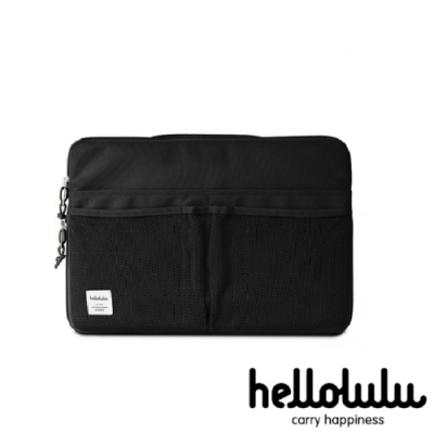 hellolulu RALPH多功能筆記型電腦包-黑