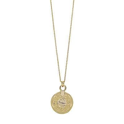 Dorsey 美國時尚品牌 Sofia圖騰圓牌金色項鍊