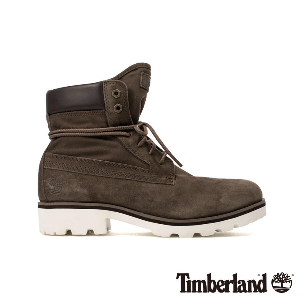Timberland 男款橄欖色絨面革6吋靴|A284K
