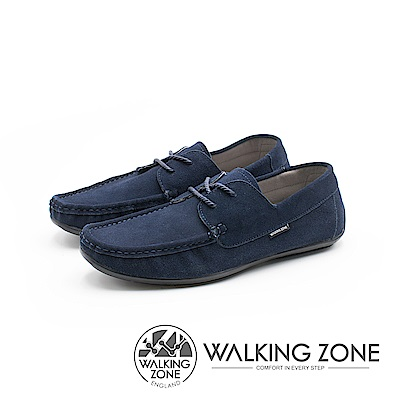 WALKING ZONE 極簡雅痞懶人鞋休閒鞋 男鞋-藍(另有灰棕)