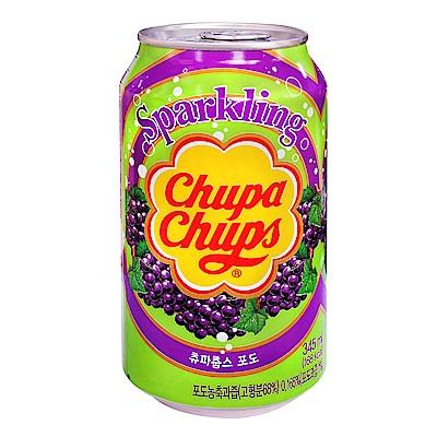 Chupa Chups加倍佳 葡萄風味汽水(345mlx6瓶)