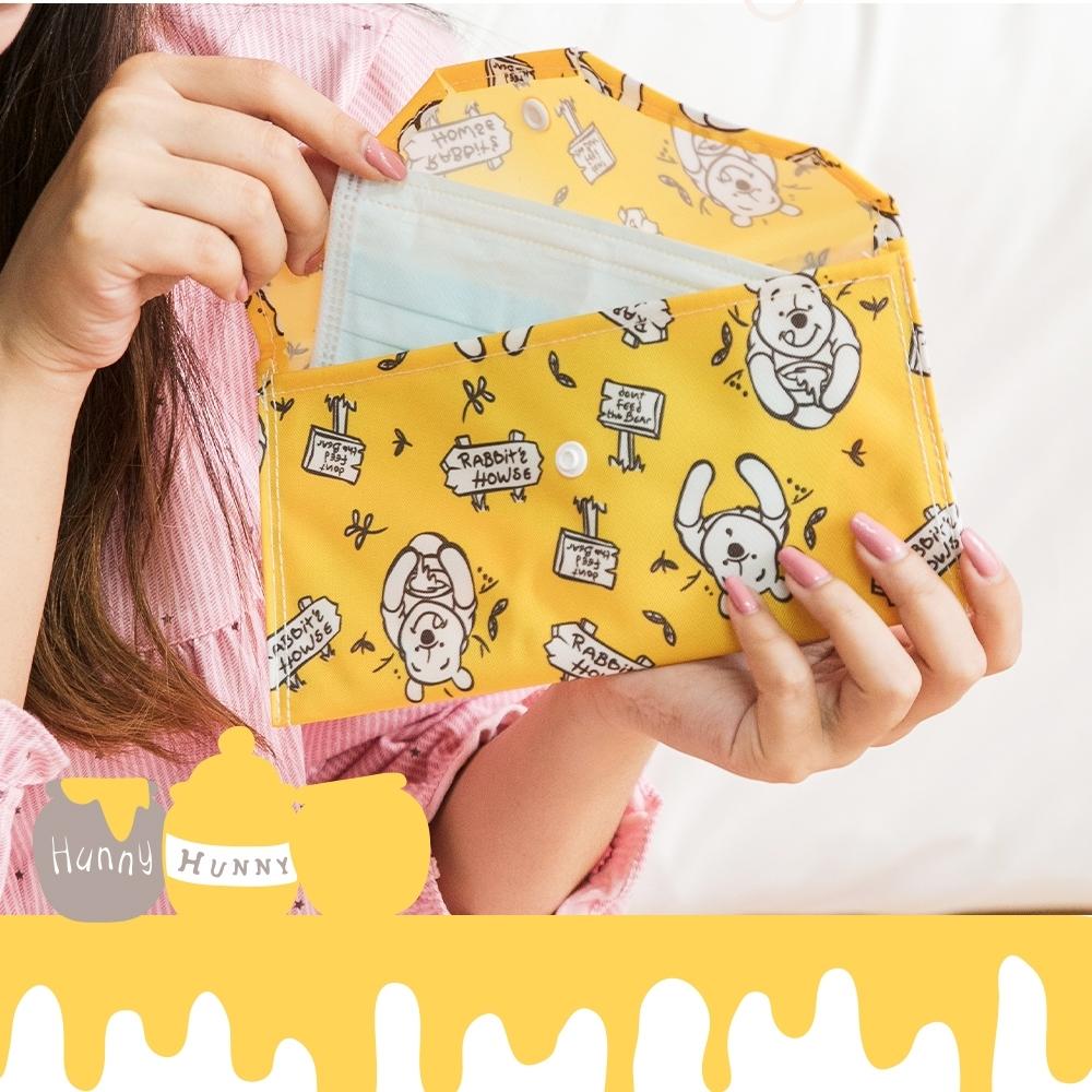 【收納皇后】Disney迪士尼小熊維尼-口罩收納套/收納袋/零錢包/化妝包-台灣製造 四款任選