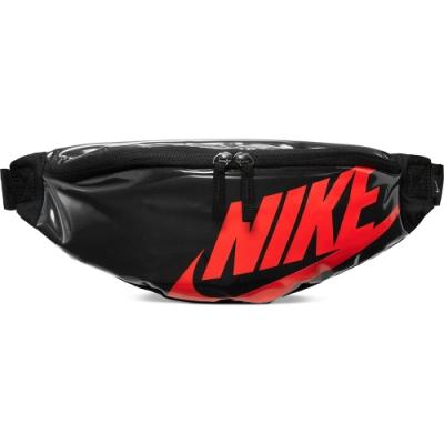 NIKE  腰包 小包 側背包 斜背包 亮皮 黑紅  CK7914010  NK HERITAGE HIP PACK - MTRL