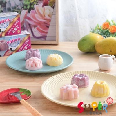 任-台灣超級美 迷你雕花冰淇淋3顆裝(草莓、芒果、桑葚;造型隨機出貨)