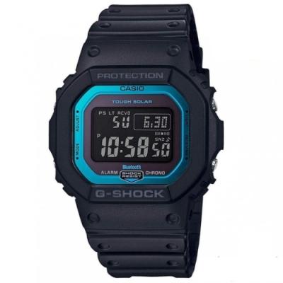 G-SHOCK 帥氣金屬藍太陽能藍牙電波運動休閒錶(GW-B5600-2)