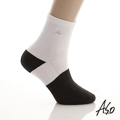 A.S.O 竹炭抑菌 弓型竹炭襪 加大版 白