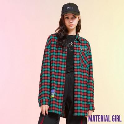 MATERIAL GIRL 紅綠王國復古格紋襯衫【21春季款】-B1208B