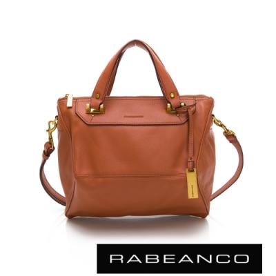 RABEANCO OL時尚粉領系列菱形包(小)橘紅