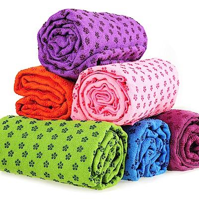 瑜珈鋪巾-超細纖維止滑顆粒(送收納袋)-(快)
