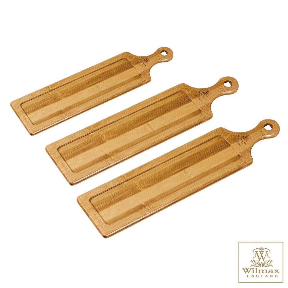 英國 WILMAX 長形竹製托盤/輕食盤-超值三入組(大)