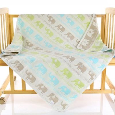 【優貝選】可愛動物多功能純綿柔軟嬰幼兒六層紗布巾空調毯包巾