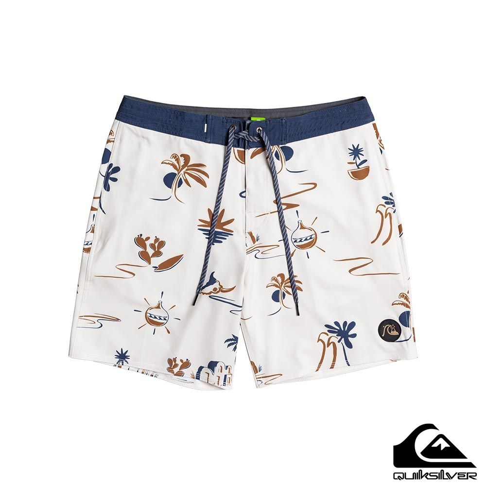 【QUIKSILVER】VARIABLE BEACHSHORT 18 衝浪褲 白色