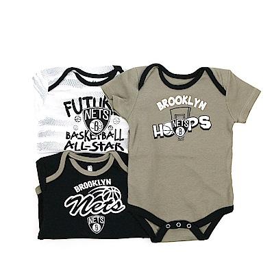 NBA 新生兒包屁衣三件組 籃網隊