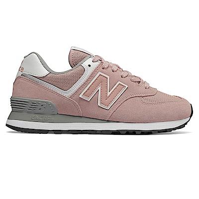 New Balance 復古鞋 WL574UNC_女性_灰粉