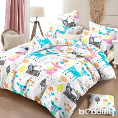 BEDDING-頂級法蘭絨-單人床包被套三件組-可愛森林