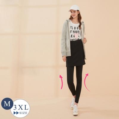 2F韓衣-彈力升溫發熱褲裙-黑色(M-2XL)-秒