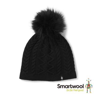 SmartWool Bunny Slope 麻花保暖毛帽 黑色