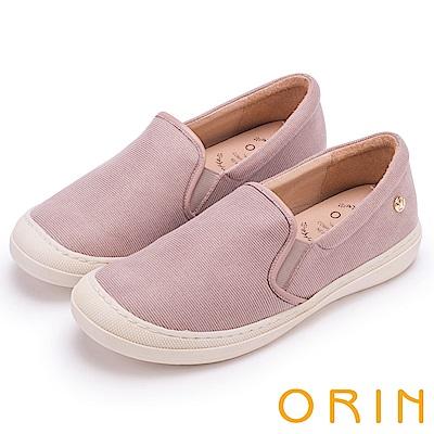 ORIN 潮流同步 質感布料素面休閒便鞋-粉色