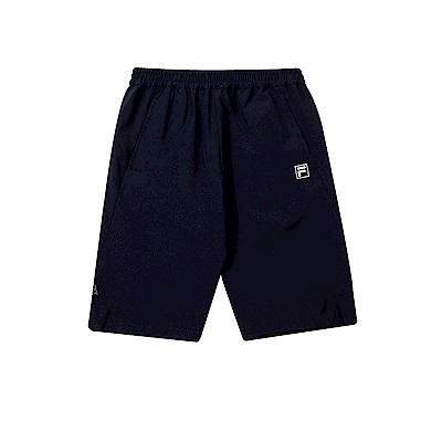 FILA KIDS 童抗UV彈性短褲-丈青 1SHT-4309-NV