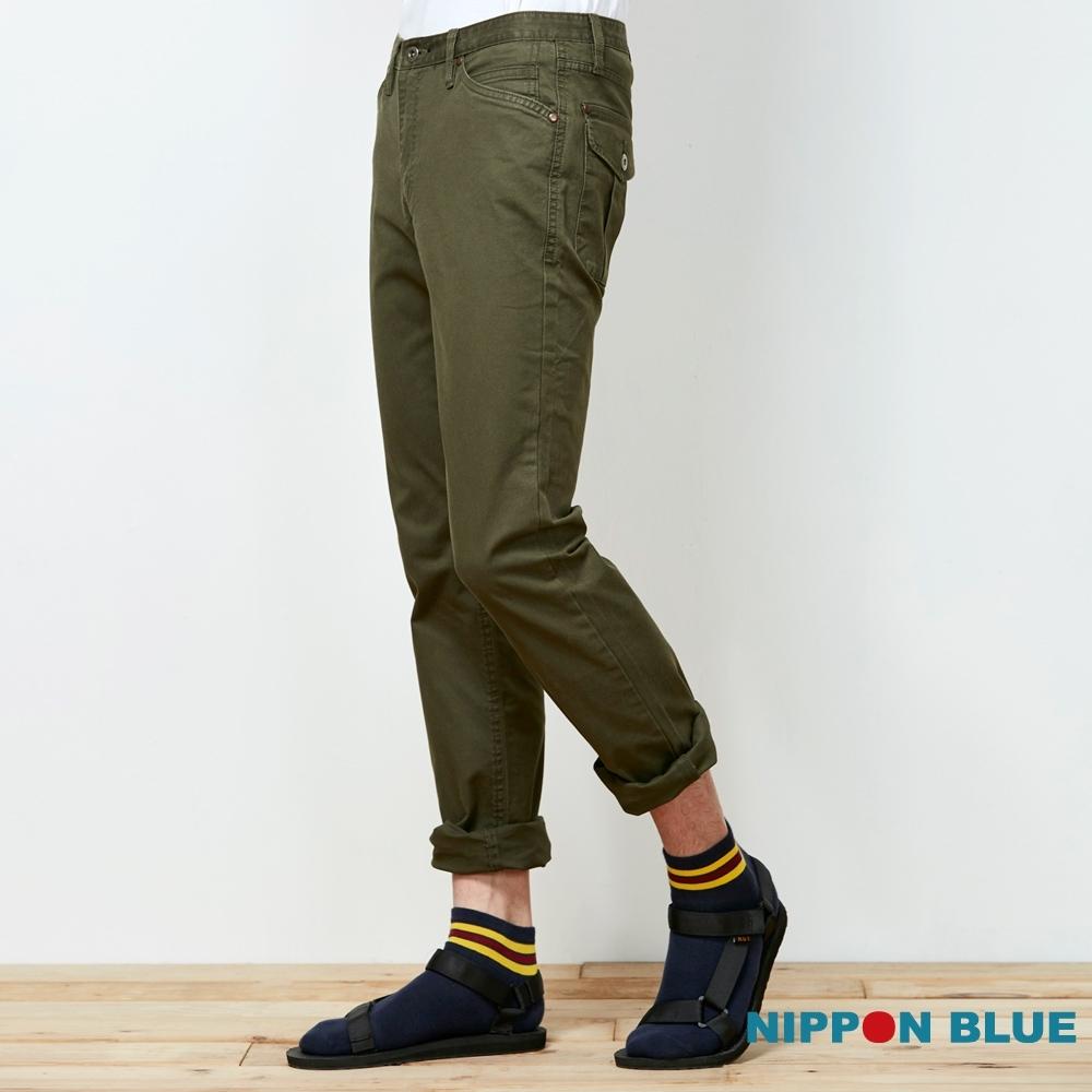 日本藍 BLUE WAY  –日本藍基本工作長褲(軍綠)