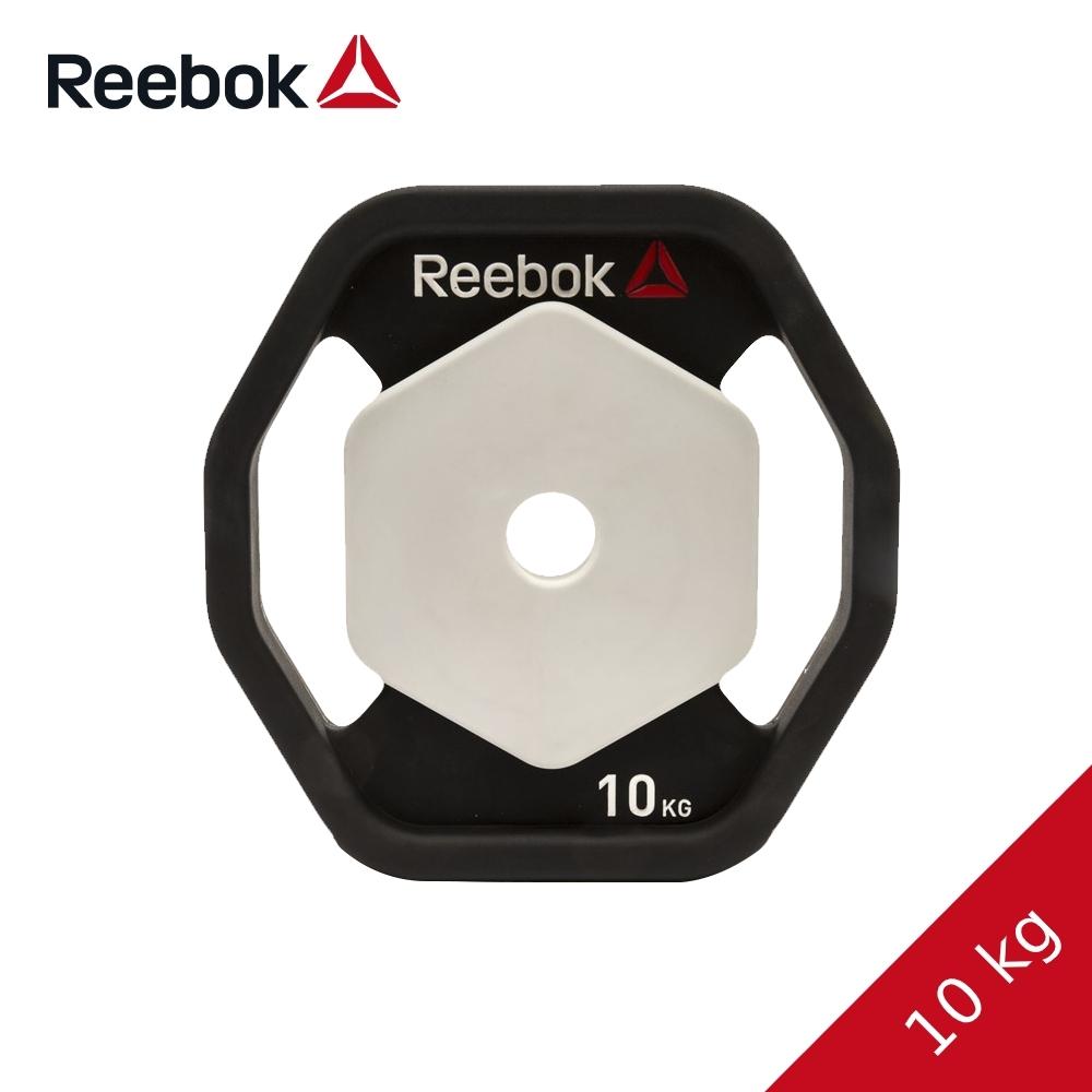 【Reebok 】八角PU槓片10kg/片 (兩入/重訓/健身/RSWT-16090-2)