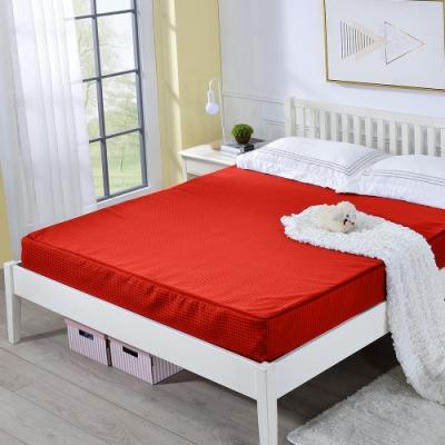 戀香 5X6尺雙人舒棉極致厚感18CM透氣折疊式彈簧床墊(四色)