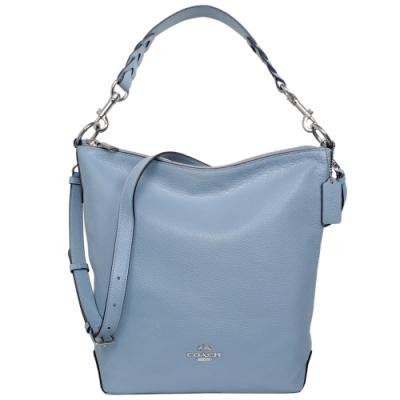 COACH ABBY DUFFLE水藍全皮肩背/斜背大款水桶包