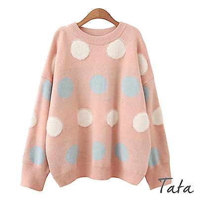 TATA寬鬆可愛圓點針織上衣