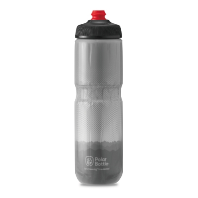 Polar Bottle 24oz 雙層保冷噴射水壺 RIDGE 灰-銀