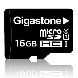 Gigastone 立達國際 16GB MicroSDHC UHS-I 高速記憶卡(附轉卡