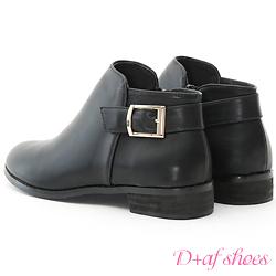 D+AF 定番Style.簡約後釦環及踝短靴*黑