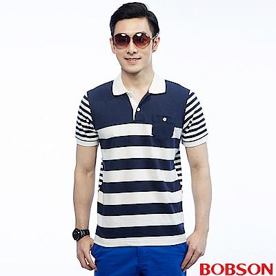 BOBSON 男款條紋POLO衫