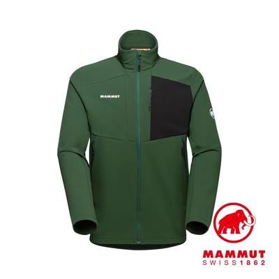 【Mammut】Madris ML Jacket Men 刷毛立領外套 綠樹林/白 男款 #1014-02420