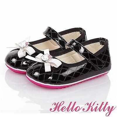 HelloKitty 氣質手工款高級超纖皮減壓寶寶學步鞋童鞋-黑