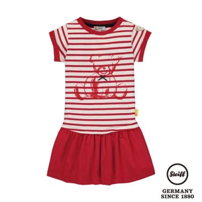 STEIFF德國精品童裝  條紋熊熊短袖洋裝(短袖洋裝)