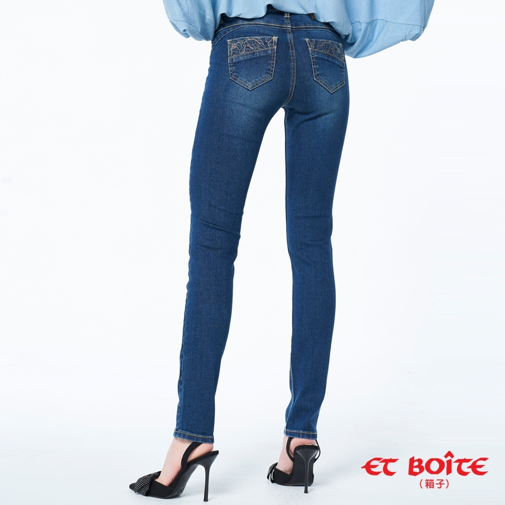 ET BOîTE 箱子 BLUE WAY – 調細束腹高腰小直褲