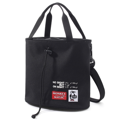 CHUMS 21 Monkey Magic Chalk Bag 男女 側背包 黑色-CH603177K001