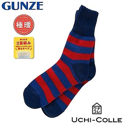日本GUNZE極暖2重編織長襪AUG402