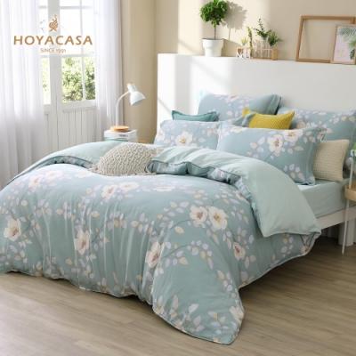 【HOYACASA 】 加大60支抗菌天絲兩用被床包四件組-舞花香