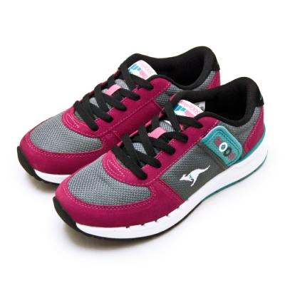 KangaROOS 經典復刻慢跑鞋 COMBAT紅標袋鼠鞋 桃灰黑 91053