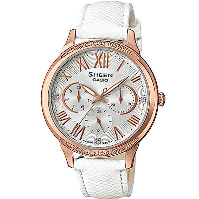 CASIO  SHEEN 耀眼風采時尚腕錶(SHE-3058LTD-7A)白/36mm